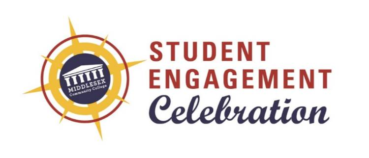Student Engagement Celebration Logo in red and blue