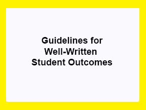 Guidelines for Well-Written Student Outcomes Statements